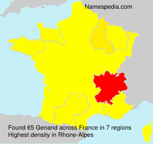 Surname Genand in France