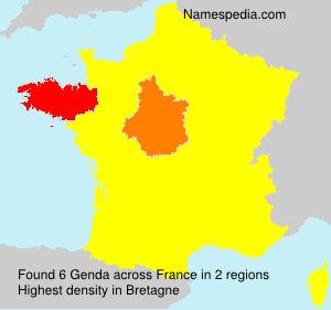 Familiennamen Genda - France