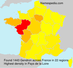 Surname Gendron in France