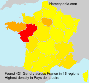 Surname Gendry in France