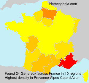 Surname Genereux in France