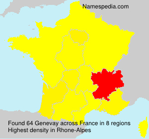 Surname Genevay in France