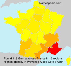 Surname Genna in France