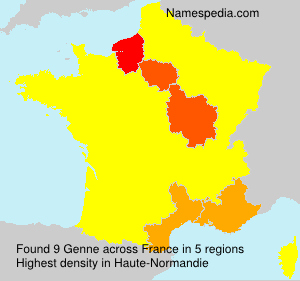 Familiennamen Genne - France