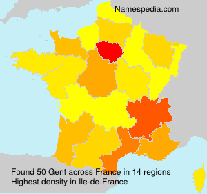 Surname Gent in France