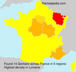 Surname Gentaire in France