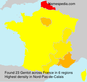 Surname Gentot in France
