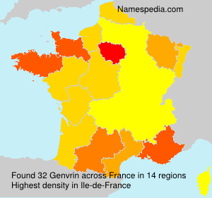 Surname Genvrin in France