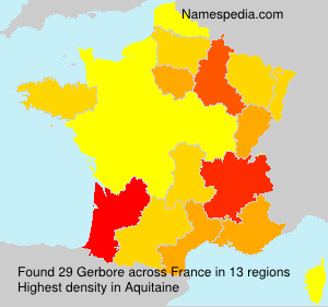 Surname Gerbore in France