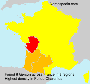 Surname Gercon in France