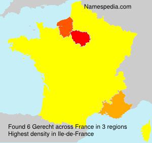 Surname Gerecht in France