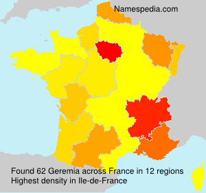Surname Geremia in France