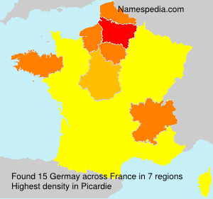 Surname Germay in France