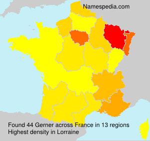 Surname Gerner in France
