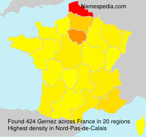 Surname Gernez in France
