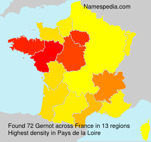 Surname Gernot in France