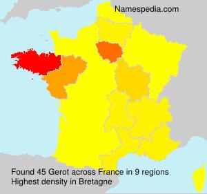 Surname Gerot in France
