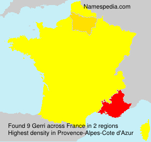 Surname Gerri in France