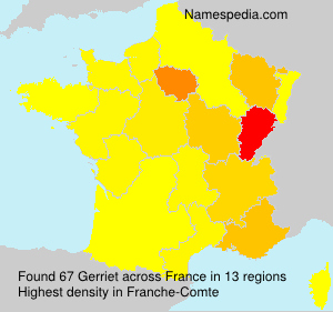 Surname Gerriet in France