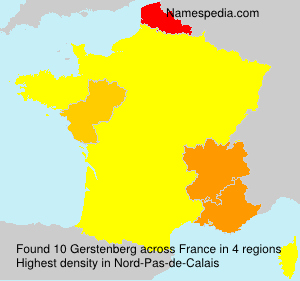 Surname Gerstenberg in France