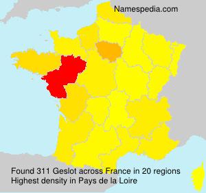 Familiennamen Geslot - France