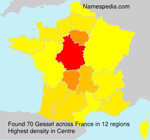 Surname Gesset in France