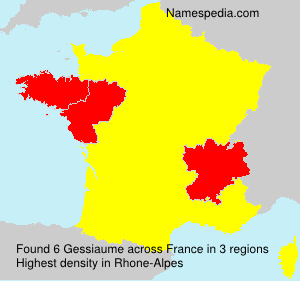Surname Gessiaume in France
