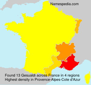 Familiennamen Gesualdi - France