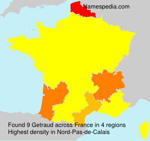 Surname Getraud in France