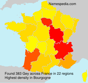 Surname Gey in France