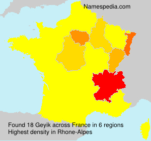 Surname Geyik in France