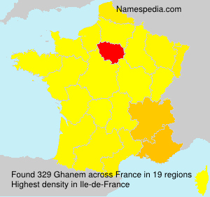 Surname Ghanem in France