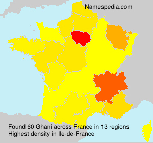 Surname Ghani in France