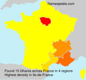 Surname Ghania in France