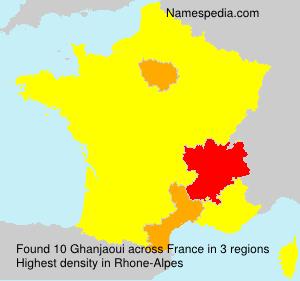 Familiennamen Ghanjaoui - France