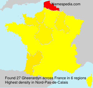 Familiennamen Gheerardyn - France