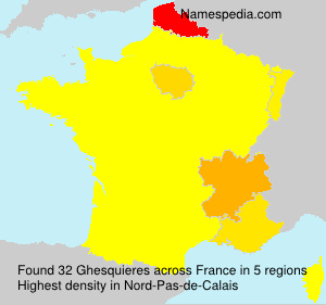 Surname Ghesquieres in France
