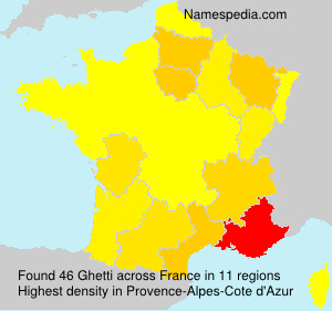 Surname Ghetti in France
