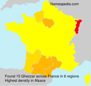 Surname Ghezzar in France