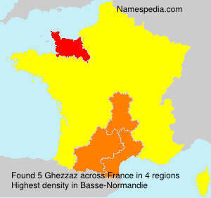 Surname Ghezzaz in France