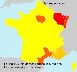 Familiennamen Ghia - France