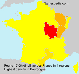 Surname Ghidinelli in France