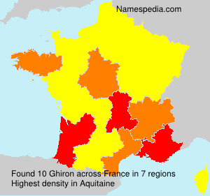 Surname Ghiron in France