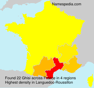 Surname Ghisi in France