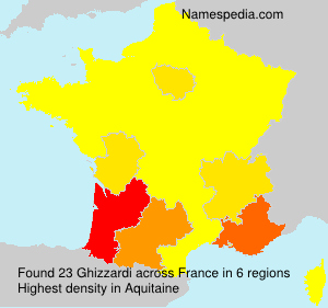 Surname Ghizzardi in France