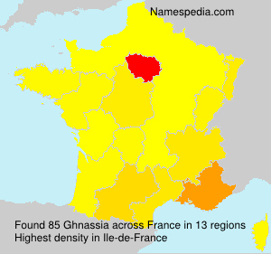 Surname Ghnassia in France