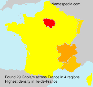 Surname Gholam in France