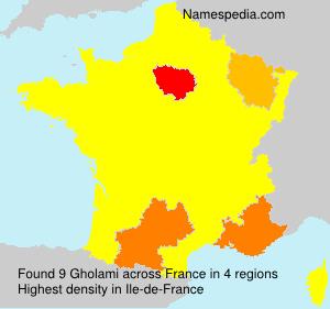 Surname Gholami in France