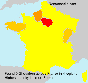 Surname Ghoualem in France