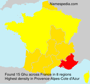 Surname Ghu in France